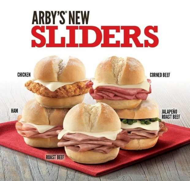 Arby's Sliders will be included in their dollar menu.