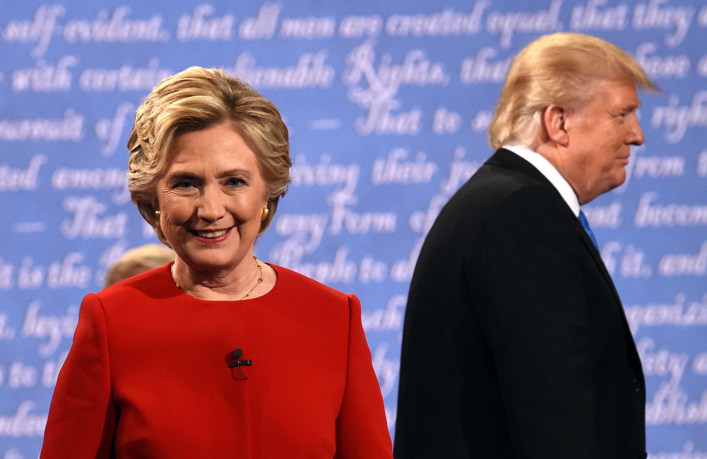 Image result for trump and clinton debate
