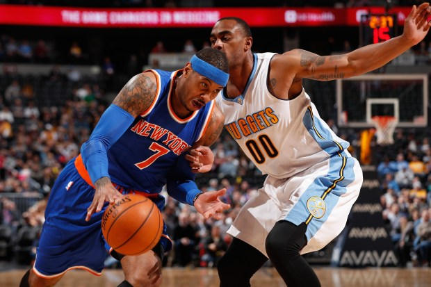 Carmelo Anthony still winless against Nuggets in Denver after Portland's loss