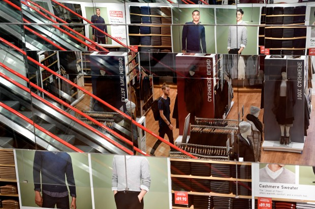 VIP shoppers get a sneak peak at Uniqlo on Oct. 27, 2016 in Denver.