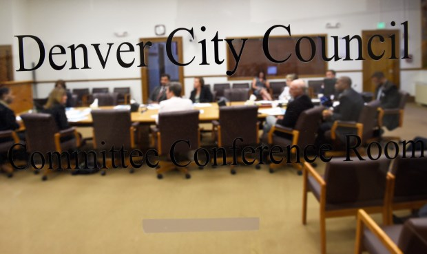 A Denver City Council committee meets in this 2015 file photo.