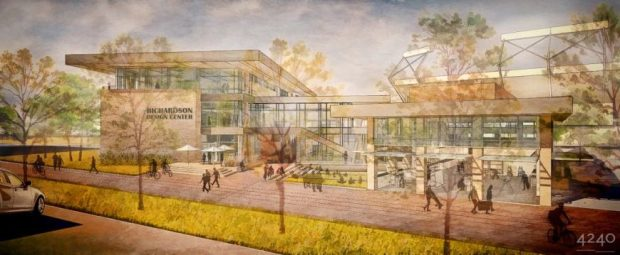 Artist rendering of the Richardson Design Center at Colorado State University in Fort Collins.