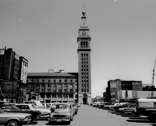 The Daniels & Fisher Tower in downtown Denver in 1969.