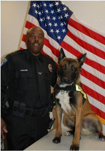 Sgt. Sean Humphrey and K-9 Faroan