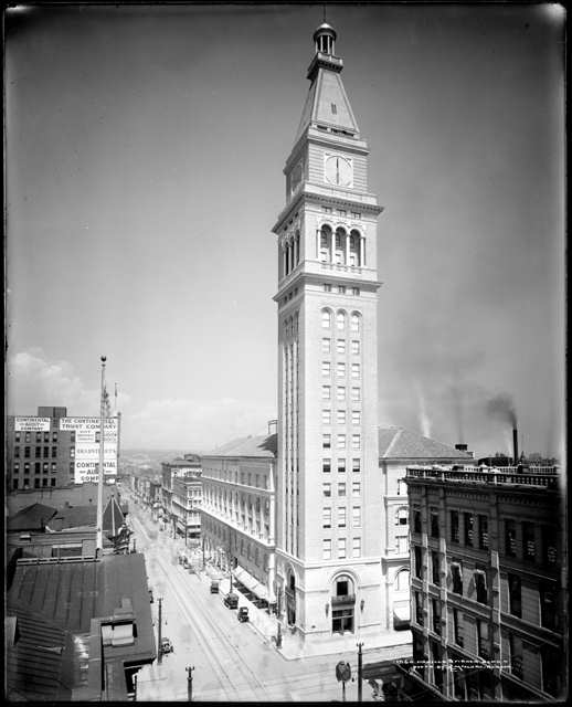 The Daniels and Fisher building and tower at 16th and Arapahoe Streets.