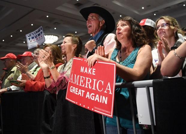 Supporters for Donald J. Trump in Pueblo.