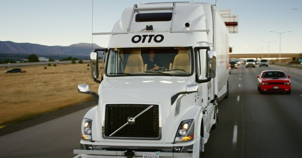 Otto, a self-driving truck maker partnered with Uber, transported the beer from the Fort Collins CDOT Fort Collins weigh station 120 miles south to Colorado Springs on Oct. 20, 2016.