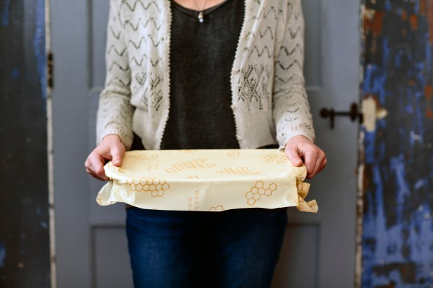 Use Bee's Wrap as an eco-friendly alternative to plastic wraps. They're re-usable, washable and compostable.
