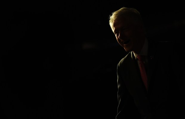 Former President Bill Clinton speaks at a rally, for Hillary Clinton, at Exdo Event Center in Denver. Bill Clinton was in Colorado campaigning for his wife.