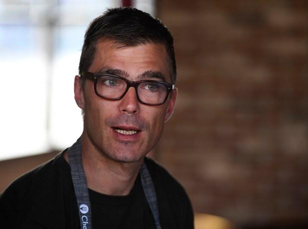 Punch Bowl Social culinary partner and celebrity chef Hugh Acheson at the Denver restaurant November 1, 2016. (Andy Cross, The Denver Post)