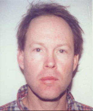 Mugshot of James Hogue, possibly from 1998.