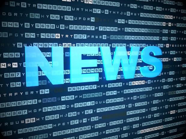 News concept: words News on digital background
