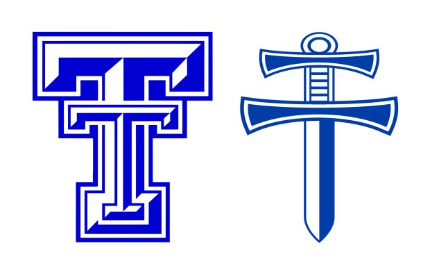 Old and new Thornton High School logos