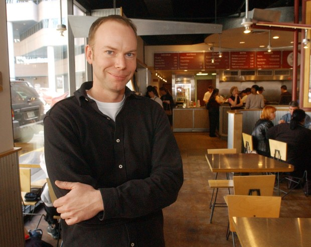 Chipotle CEO Steve Ells is shown ...