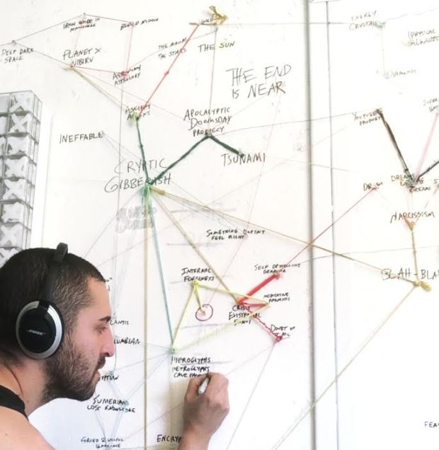 """Johnathan Saiz working on """"The Deep End."""""""