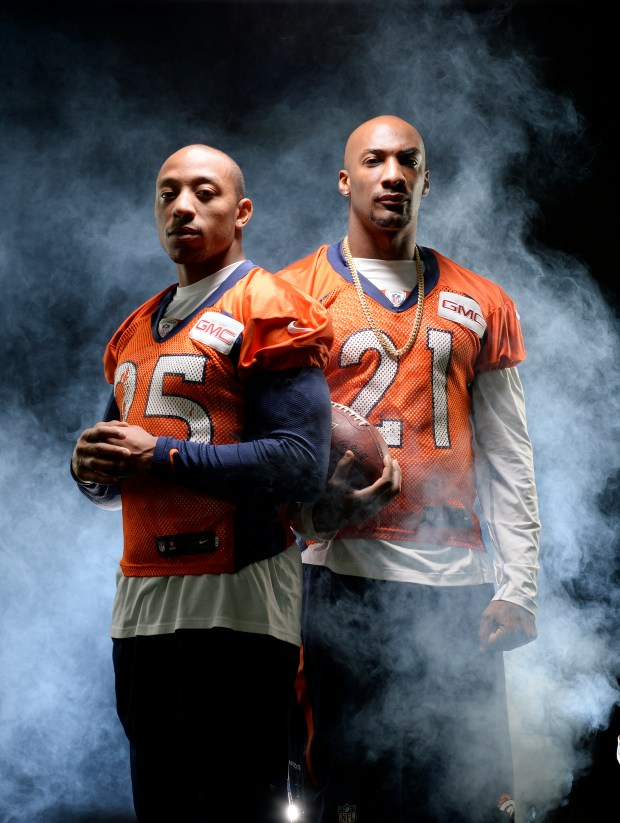 Chris Harris and Aqib Talib