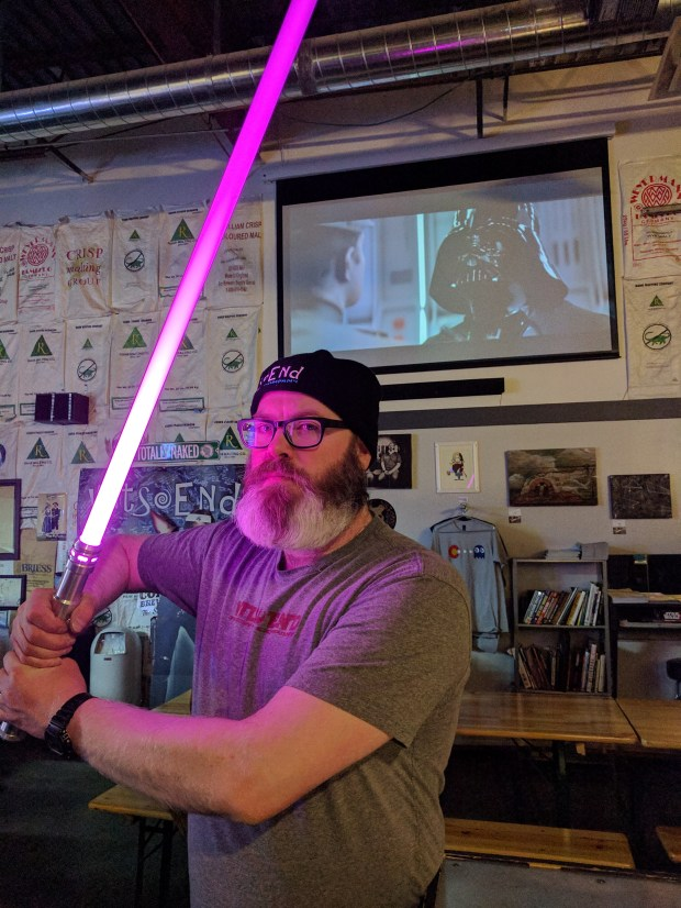 Scott Witsoe is the founder of Wit's End Brewing in Denver, which brews a Star Wars-inspired line of beers.