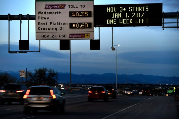 What Is Hov Lane >> Colorado's new HOV 3 lane requirements drawing criticism ...