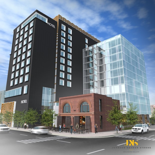 The historic Denver Hose Company No. 1 building will be incorporated into the development of a new 12-story Hilton Garden Inn near Union Station.