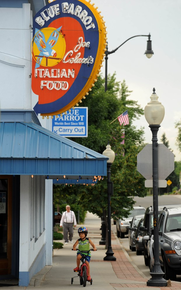 The Blue Parrot restaurant, one of Louisville's oldest and most popular restaurants.