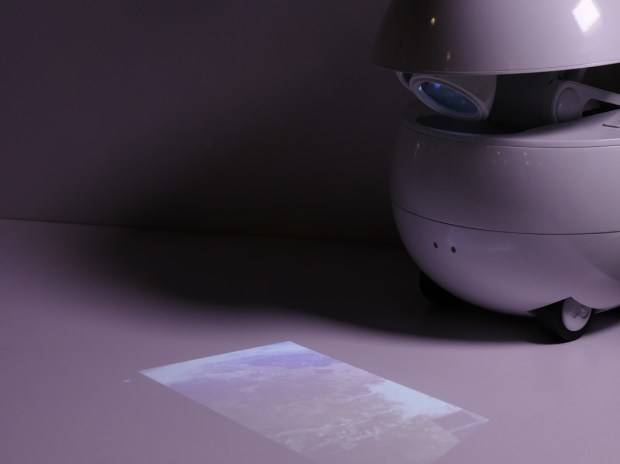 Panasonic's companion robot will project a video on a surface.