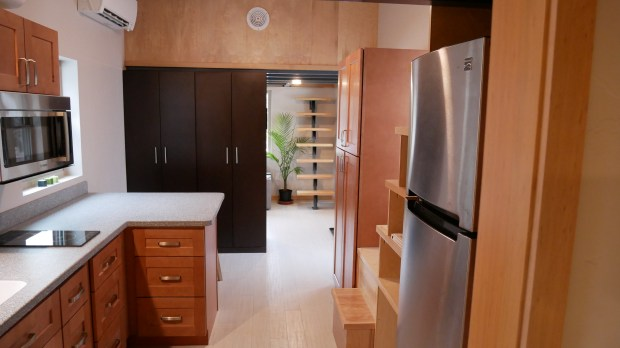Aspen Skiing Co. purchased six of these tiny houses, officially called trailer coaches, for use as affordable housing in the midvalley. Each of the residences is about 500 square feet. The interior of the trailer coaches feature high-quality cabinetry, flooring and countertops.