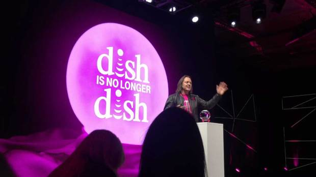 T-Mobile's CEO John Legere predicts Dish Network won't be a standalone company after 2017. He said this during T-Mobile's press conference at the Consumer Electronics Show in Las Vegas, on January 5, 2017.
