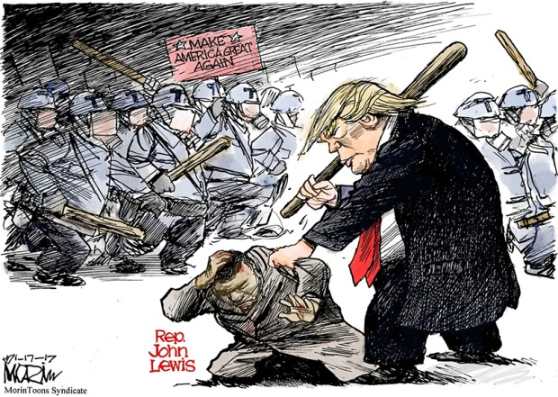 Responses To Cartoon Depicting Donald Trump Attacking Rep