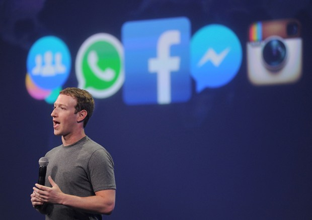 Facebook founder Mark Zuckerberg speaks at the F8 summit in San Francisco on March 25, 2015.