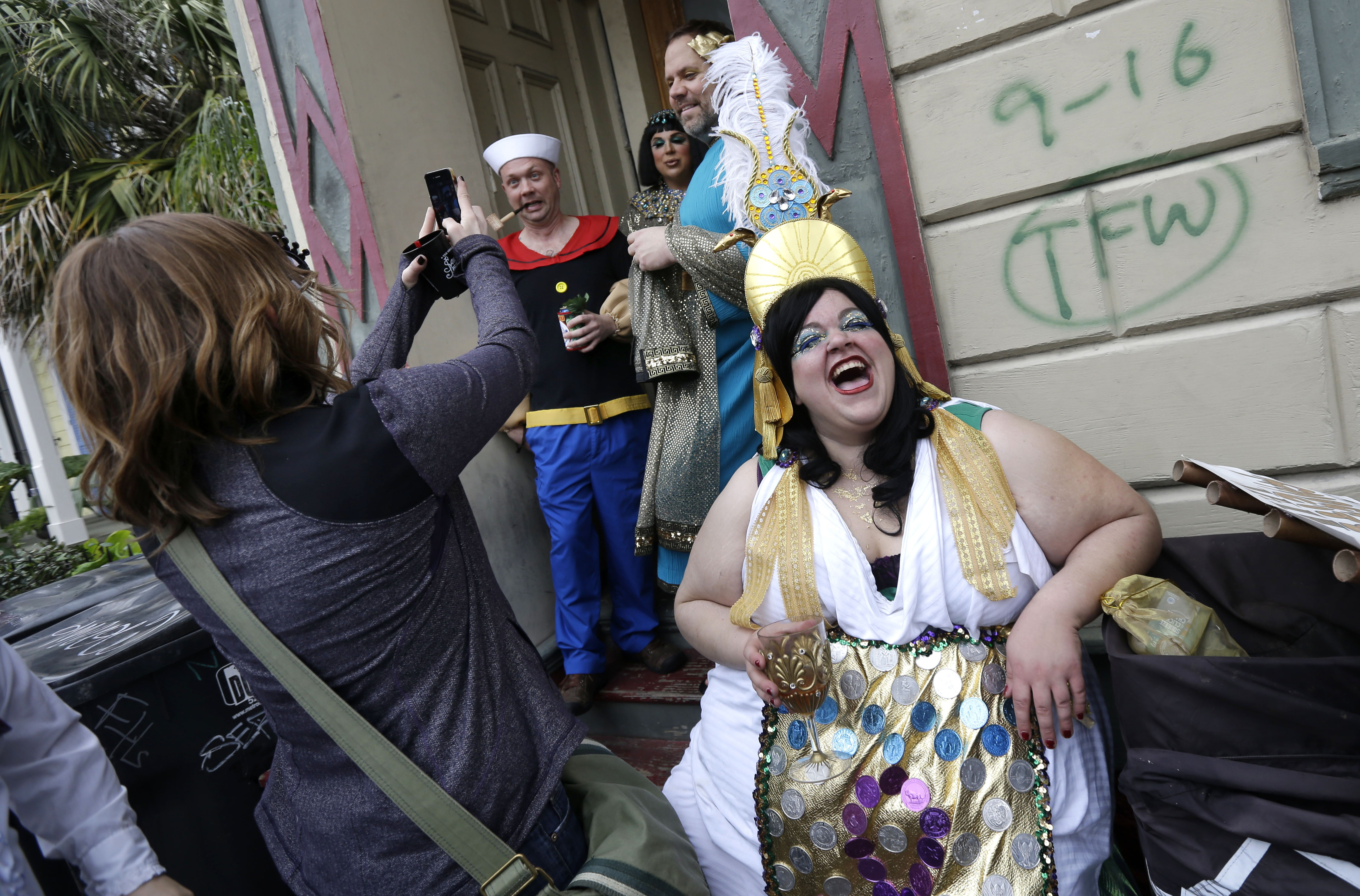 Revelers Gather For The Start Of The Society Of Saint Anne Walking Parade  In The Bywater