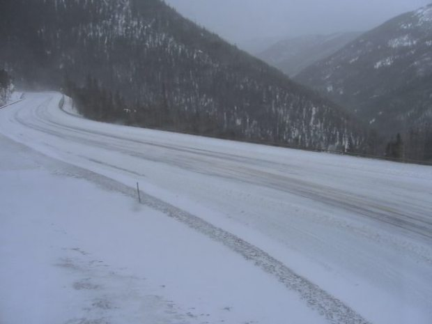 A Colorado Department of Transportation camera shows Berthoud Pass on Wednesday morning, Feb. 8, 2017.