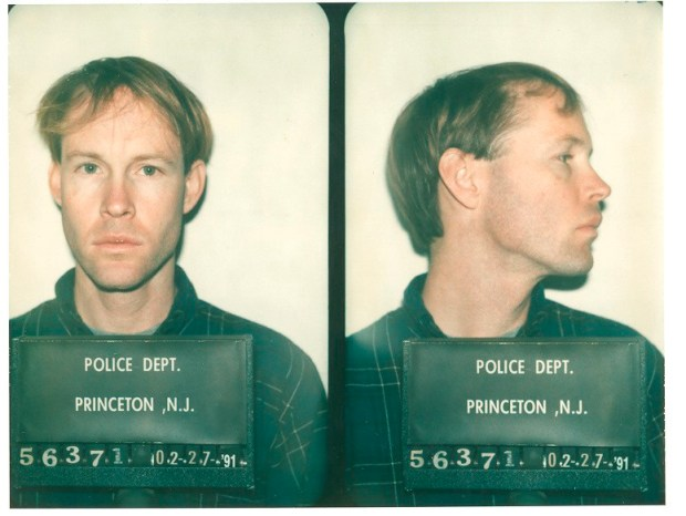 James Hogue's mugshot after he was exposed as a fraud at Princeton.