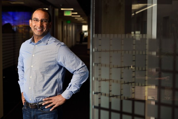 Sameer Dholakia, CEO of SendGrid, is photographed at the company's headquarters at 1801 California St. in Denver, Colorado, Feb. 1, 2017. SendGrid is a transactional email delivery and management company that provides cloud-based services for clients.
