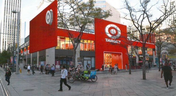 A rendering that's included in a presentation prepared for a City Council committee meeting shows how an urban Target store may look on the 16th Street Mall.