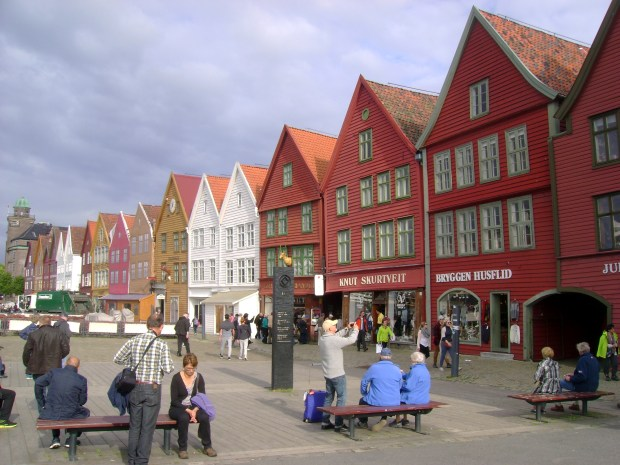 "This fall 2016 photo shows the historic waterfront, a UNESCO World Heritage site, in Bergen, Norway, where the Viking Star cruise ship began its two-week ""In the Wake of the Vikings"" cruise. The wharf dates to the Middle Ages. The itinerary through the North Atlantic traces the route of the Vikings, beginning in Norway and ending in Quebec, stopping in between in Scotland, Greenland, Iceland and Newfoundland."
