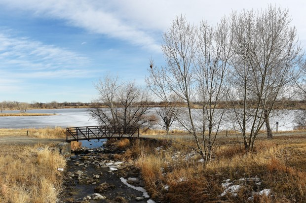 BRIGHTON, CO - JANUARY 31: Ice covers Man-Nyholt Lake in Brighton, Colorado on January 31, 2017. The Adams County Parks & Open Space Department and consultant team, Design Workshop, are working together to update the Adams County Regional Park and Fairgrounds Master Plan.  (Photo by Seth McConnell/The Denver Post)