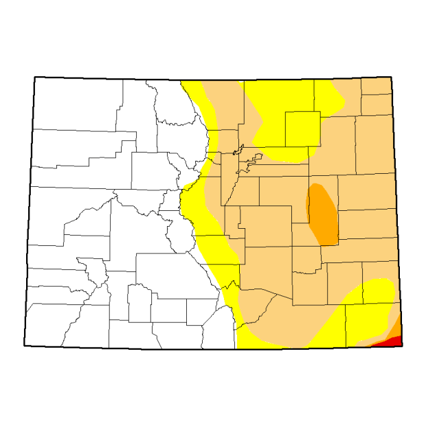 The U.S. Drought Monitor's map released Thursday.
