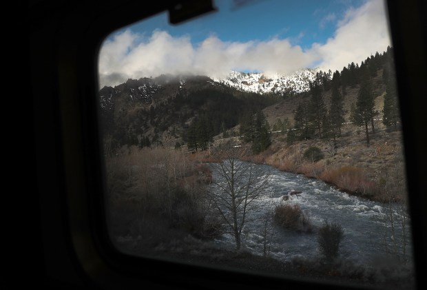 Amtrak's California Zephyr passes through the ...