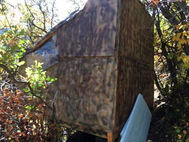 James Hogue's shack on Aspen Mountain above the Shadow Mountain Condominiums featured insulation, a locking front door, a foundation and a window.