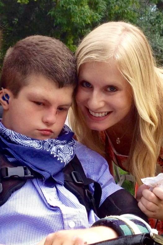 Alyssa Roberts with her brother Benjamin.