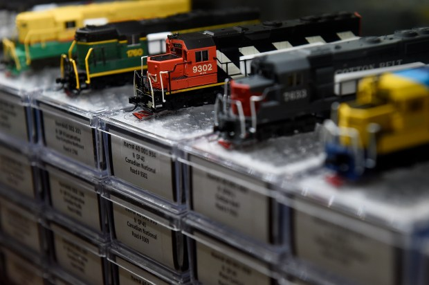 N-scale locomotives on display at Caboose ...