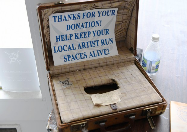 A donation box inside the Pirate: ...