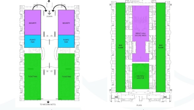 Great Hall conceptual layout