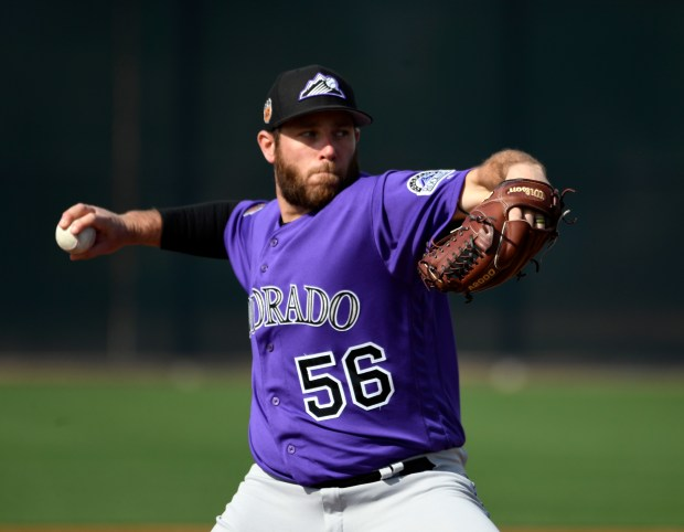 Colorado Rockies relief pitcher Greg Holland