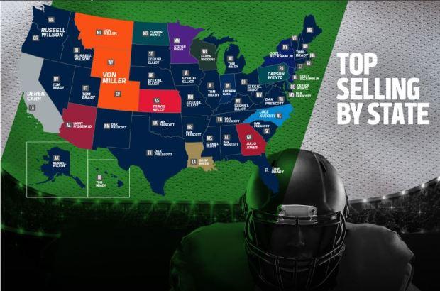 NFL best-selling jerseys 2016