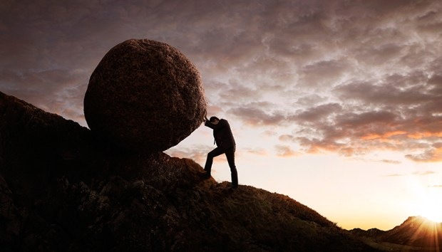 Young Sisyphus Tries To Move World >> Sisyphus Would Have Been A Democrat