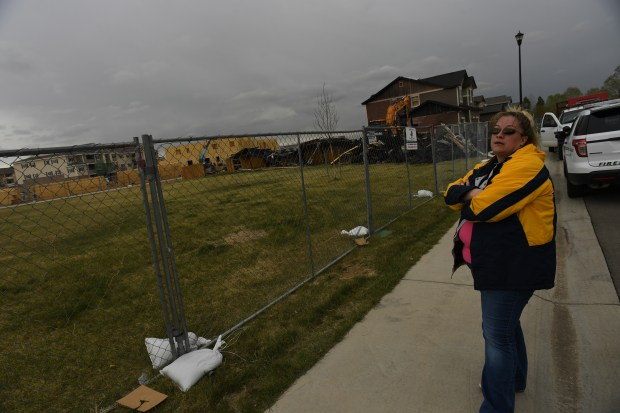 Heather Sawlidi stands outside a fatal ...