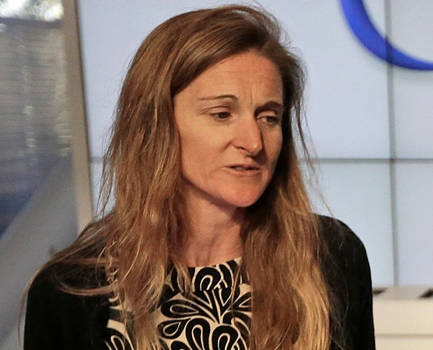 """FILE - In this Friday, Feb. 20, 2015, file photo, Rachel Whetstone attends a Google event in Mountain View, Calif. On Wednesday, April 12, 2017, Uber said Whetstone, the company's head of communications, has decided to leave the ride-hailing company. In a memo to employees, Uber CEO Travis Kalanick called her a """"force of nature"""" who was """"was way ahead of the game when it came to many of the changes we needed to make as a company."""" (AP Photo/Ben Margot, File)"""
