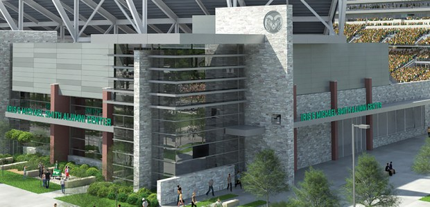 A rendering of the new Colorado State University football stadium