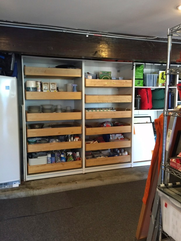 A garage organization project in Los Angeles -- after being organized to the client's goals.